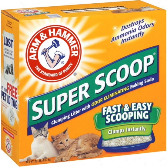 Arm & Hammer: Super Scoop Fresh Scent Cat Litter, 20 Lb