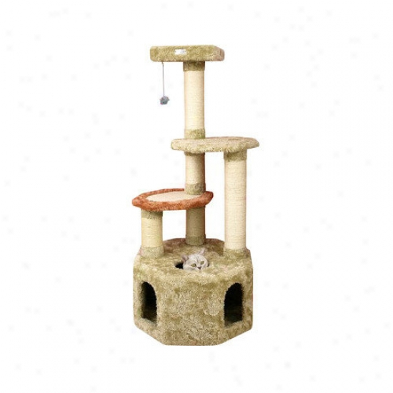 Armarkat 57'' Premium Soft Heacy Cat Tree In Khaki