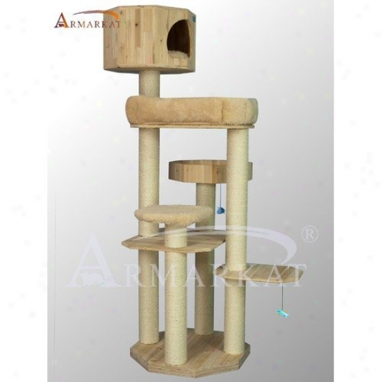 Armarkat 72'' Solid Wood Cat Tree
