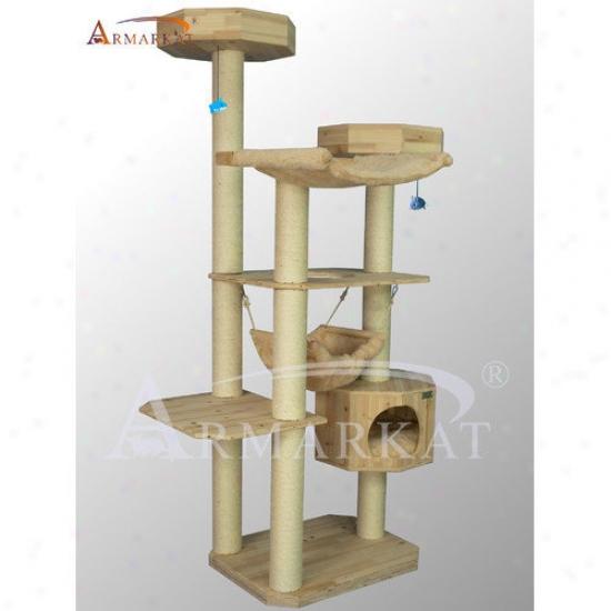 Armarkat 77'' Solid Wood Cat Tree