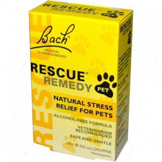 Bach Flower Remedies Rescue Remedy Stress Relief For Pets 10 Ml