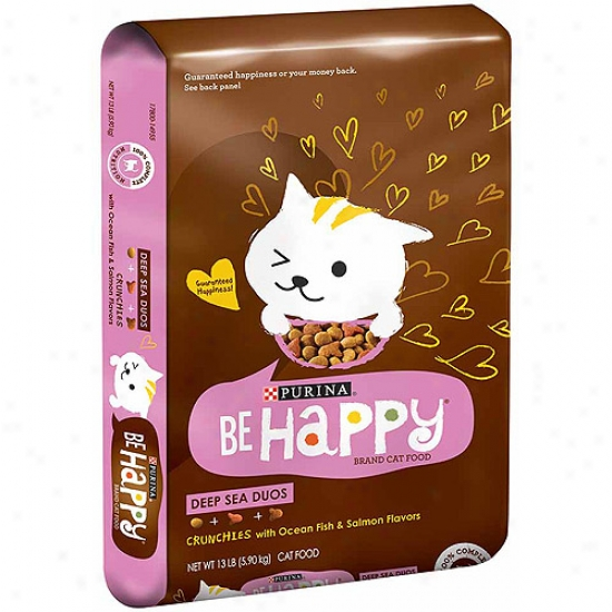 Be Happy Deep Sea Duos Crunchies With Ocean Fish And Salmon Flavors Cat Food, 13 Lbs