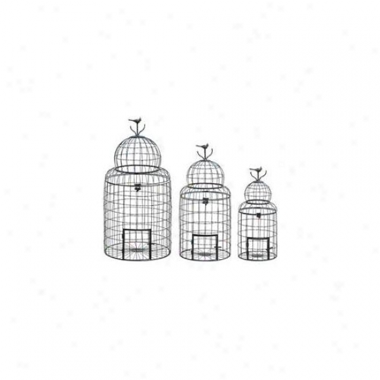 Benzara 55123 Victoriaan Style Bird Cage With 'perching Bird