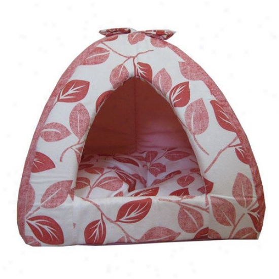 Best Pet Supplies Leaf Tent Pet Bed In Pink
