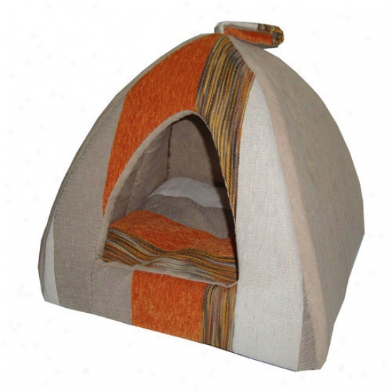 Best Fondle Supplies Striped Tent Fondle Bed In Orange