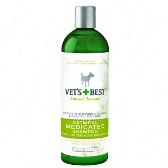 Bramton 3165810344 Vets Best Oatmeal Medicated Shajpoo