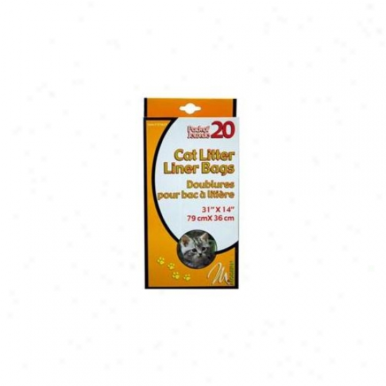 Bulk Buys 20pk Cat Litter Liners - Case Of 24