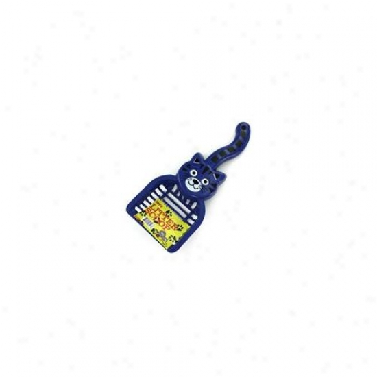 Bulk Buys Di133-24 11-3/8''l X 5''w Durable Plastic Cat Shaped iLtter Scoop - Pack Of 24