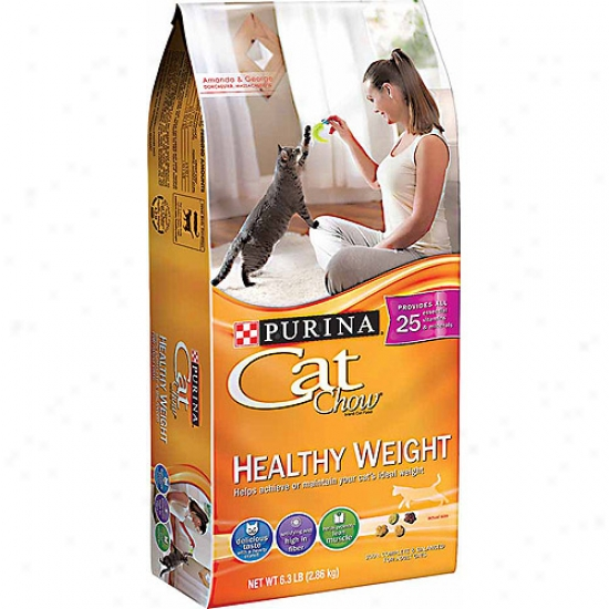 Cat Chow Healthy Weight Cat Food, 6.3 Lbs