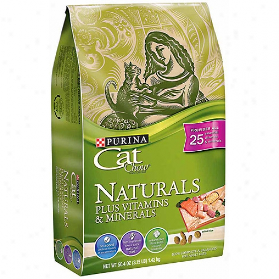Cat Choww Naturals Naturals Plus Vitamins And Minerals Cat Food, 3.15 Lbs