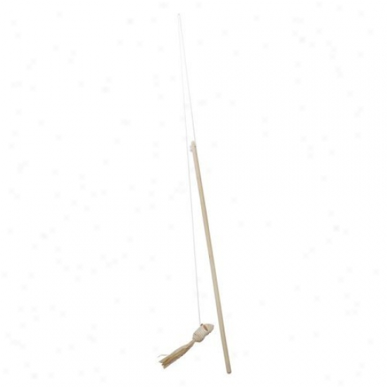 Catit Raffia Mouse On A Stick