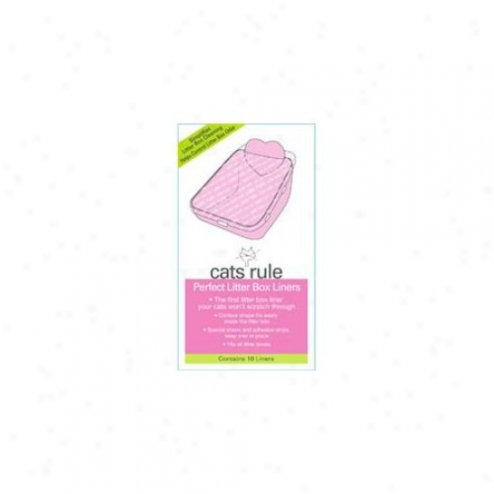 Cats Rule 000585 Perfect Litter Liners - Pack Of 10