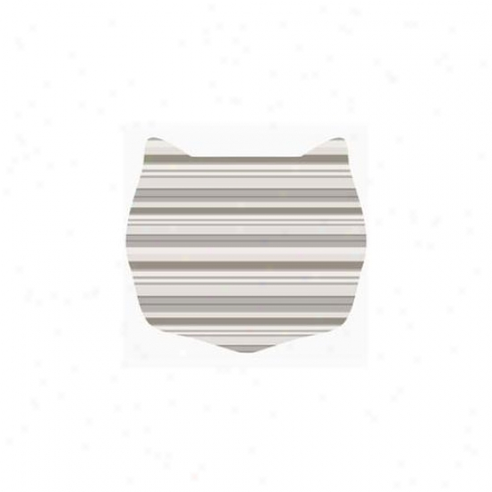 Cats Rule 00663 Small Space Mat - Neut5al Stripe