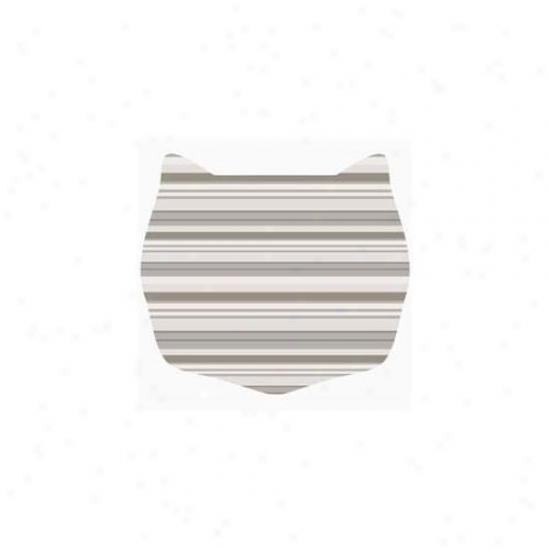 Cats Rule 00663 Small Space Mat - Neut5al Stripe