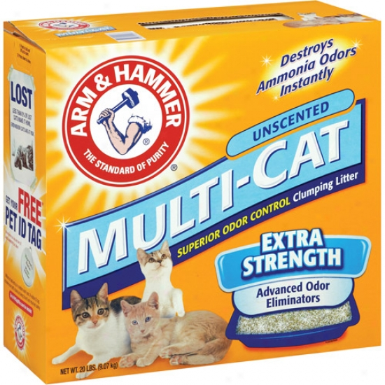 Church And Dwight 2207 Arm And Hammer Multi-cat Clumping Litter