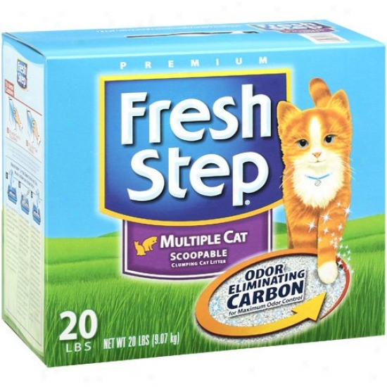 Clorox Petcare 30438 Fresh Step Multi-cat Litter - 20 Lbs.