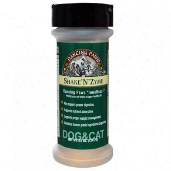 Dancing Paws Shake'n'zyme For Cats And Dogs 4.4 Oz