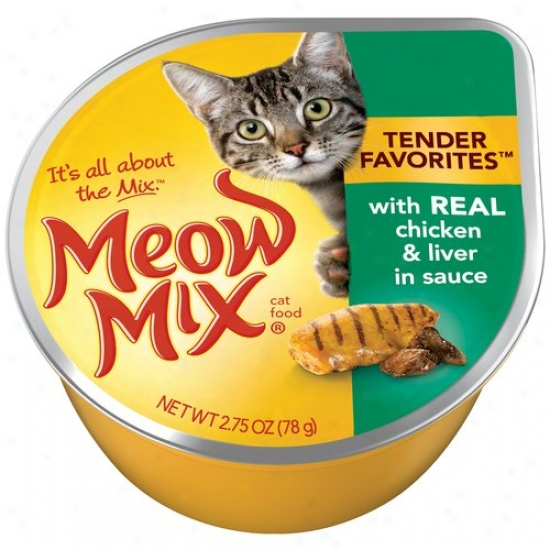 Del Monte Foods - Fondle Food Market Select Real Chicken & Liver Meow Join Wet Cat F - Pack Of 24