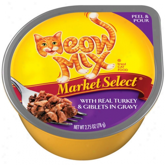 Del Momte Foods - Fondling Aliment Marrket Choose Real Turkey Meow Mix Wet Cat Food  2927 - Pack Of 24