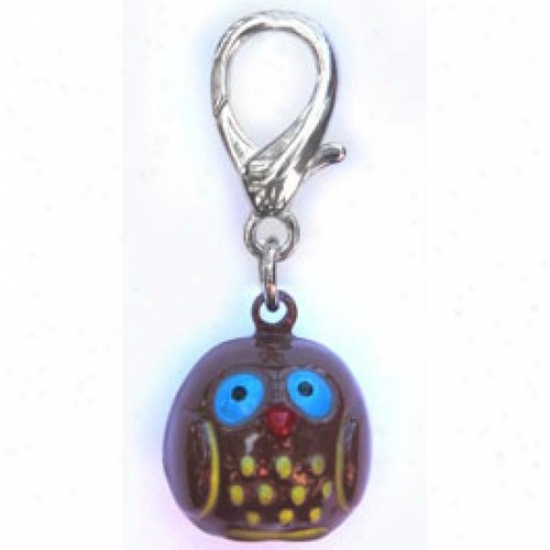 Diva-dog 11754147 Jingle Bell Owl Charm