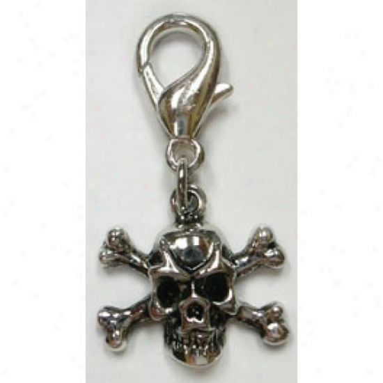Diva-dog 3847101 Slulll And Crossbones Collar Charm