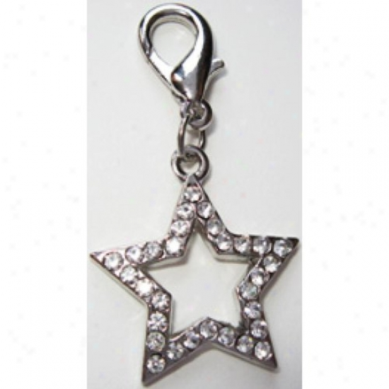 Diva-dog 4217463 Clear Crystral Hollow Star Collar Charm