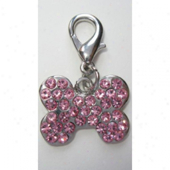Diva-dog 4217470 Pink Crystal Bone Collar Charm