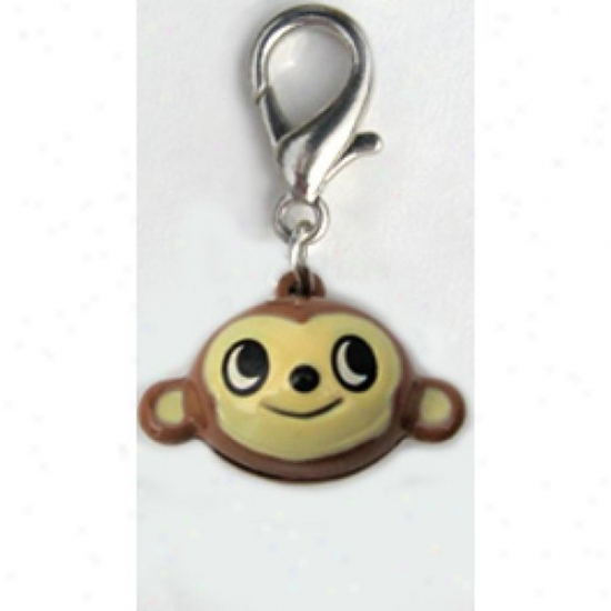 Diva-doh 7088806 Jingle Monkey Collar Charm