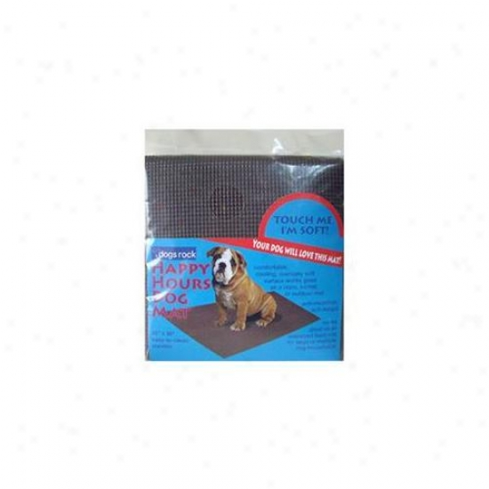 Dogs Rock 00641 Happy Hpurs oDg Mat - Chocolate Brown