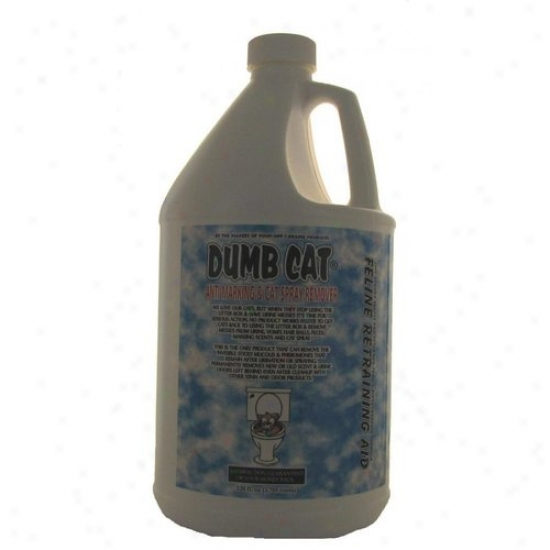 Dumb Cat Anti-marking And Cat Spray Remover Feline Retraining Aid 128 Oz Refill And Pet Urine Locato