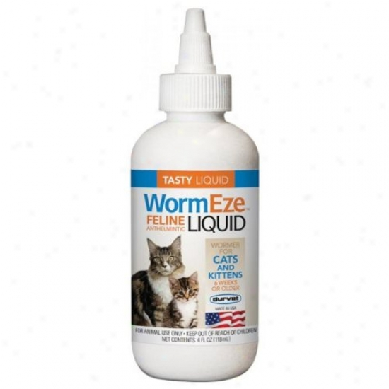 Durvet 001-0544 Wormeze Feline Anthelmintic Liquid