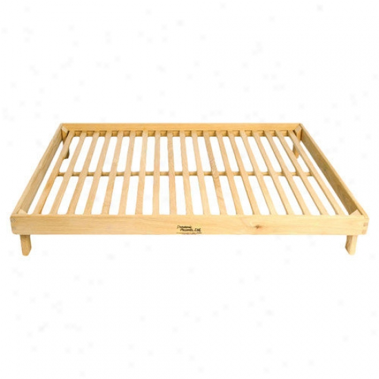 Dynamic Accents Legacy Outdoor Futon Pet Bed Frame In Solid White Oak