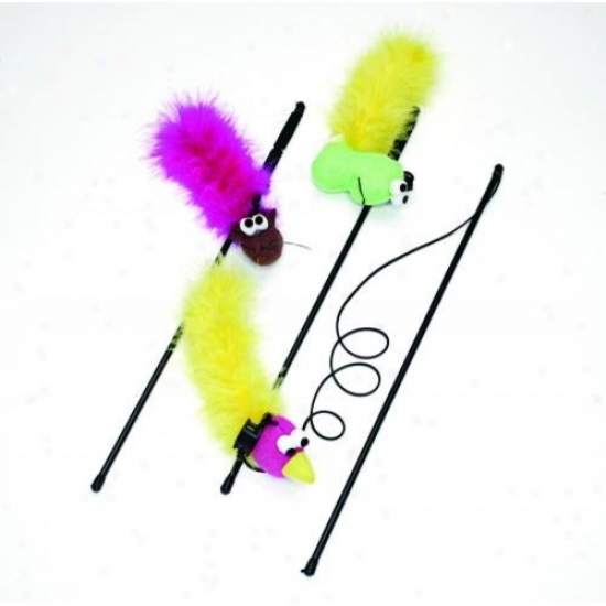 Ethical Cat 2520 Feather Boa With Wand And Catnip