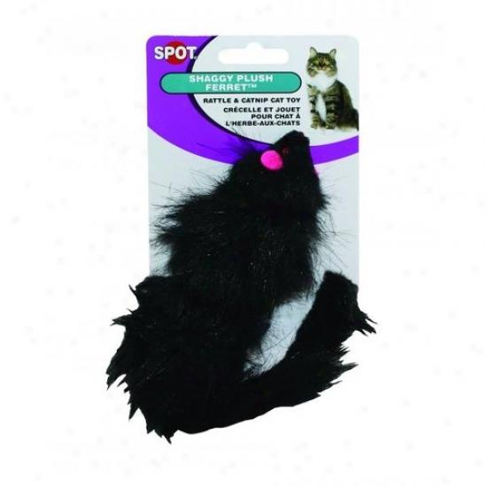 Ethical Cag 2006 Shaggy Plush Ferrett Cat Toy