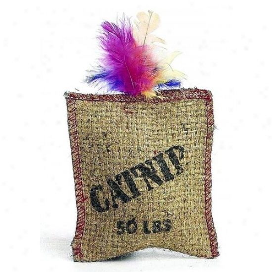 Ethical Cat 2984 Jute And Feathwr Sack With Catnip