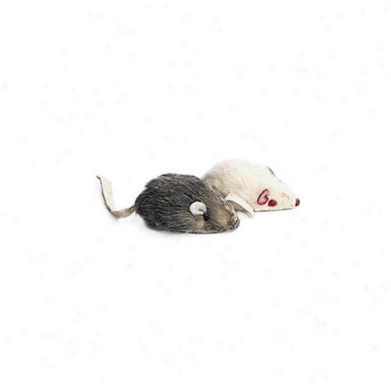 Ethical Pet Fur Mouse Cat Toy (2 Pack)