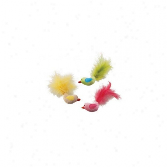 Ethical Pet Plush Fantastic Feathers Bird Cat Toy