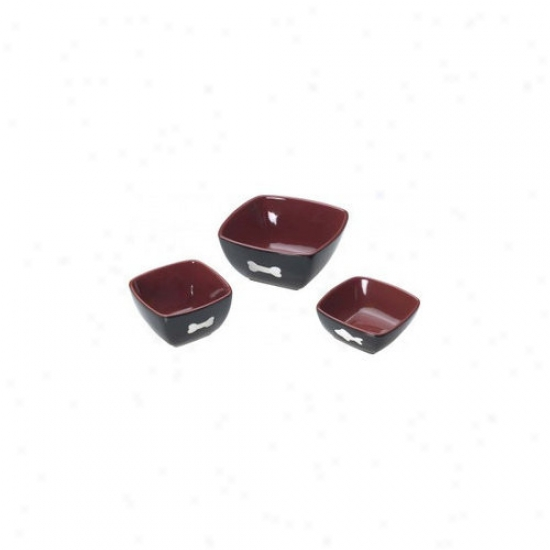 Ethical Pet Vista Cat Dish In Red/black