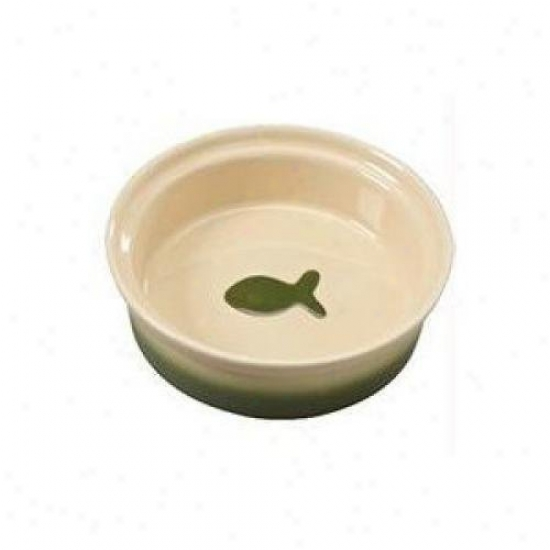 Ethical Stoneware 6959 Two Tone Sahara Cat Dish