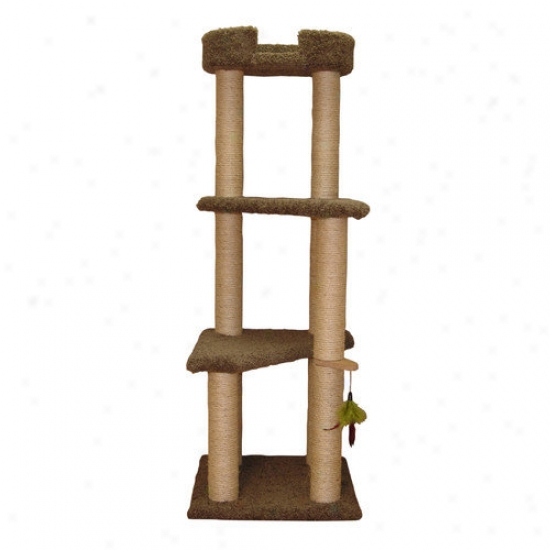 Family Cat 60.5	' Three Story Cat Tree With Sky Lounger