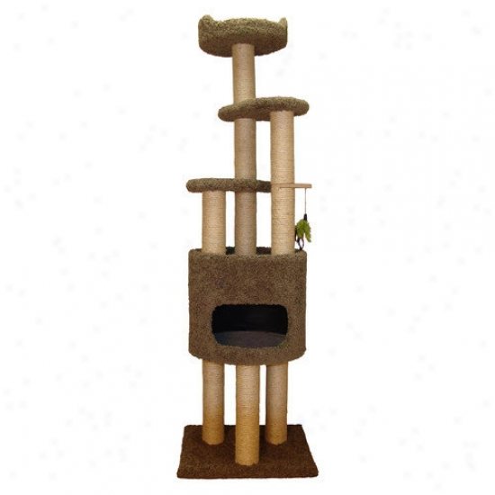 Family Cat 73'' Conro Cat Tree With Sky Lookout And Booster Base