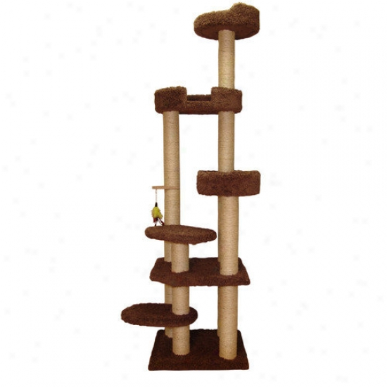 Family Cat 79'' Cat Tower With Weather Lounger And Lookout