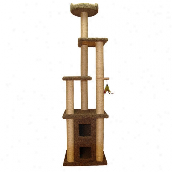 Family Cat 85'' Two Story Cat Condo With Sky Lookout
