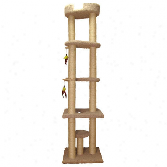 Family Caf 85.5& #039;' Cat Tower With Sky Loungre