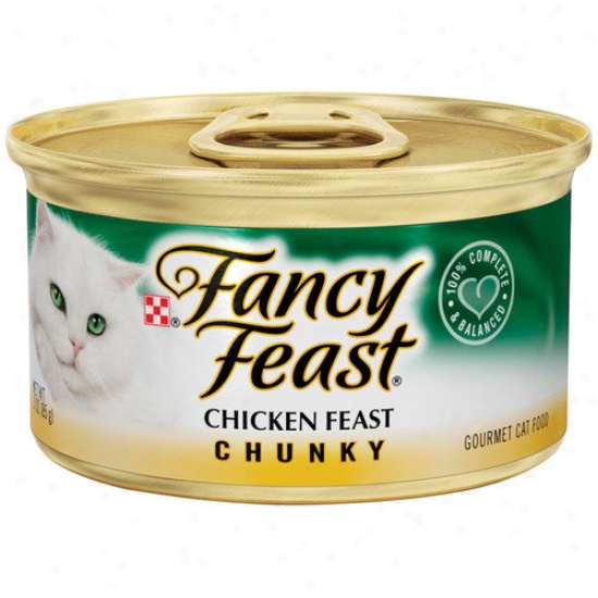Fancy Feast Chunky Chicken Feast Gourmet Wet Cat Food (3-oz Can, Case Of 24)