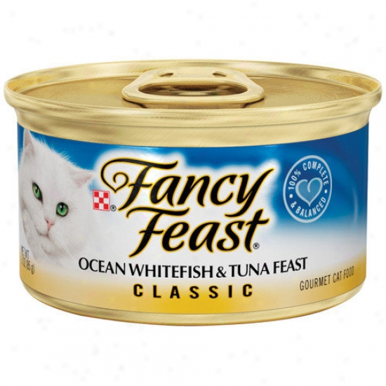 Fancy Feast Classic Oceann Whitefish And Tuna Wet Cat Food (3-oz Can,case Of 24)