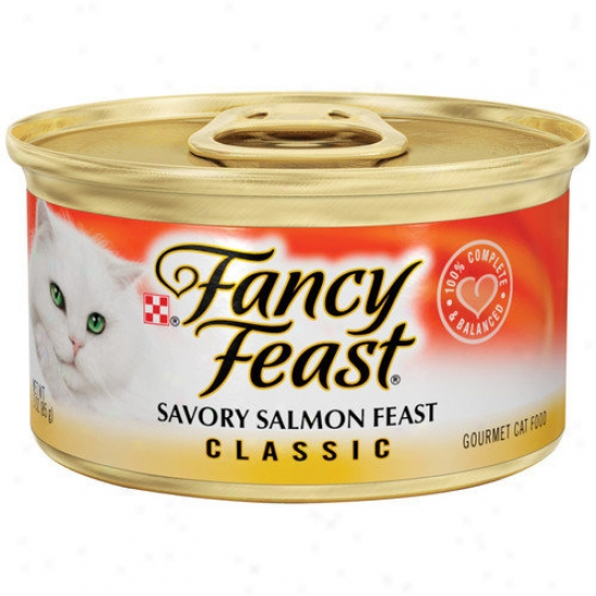 Fancy Feast Classic Savory Salmon Humidity Cat Food (3-oz Can,case Of 24)