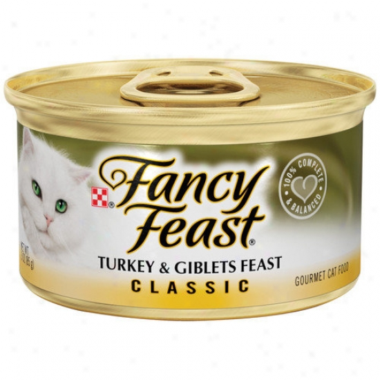 Fancy Feast Classic Turkey And Giblets Wet Cat Food (3-oz Can,case Of 24)