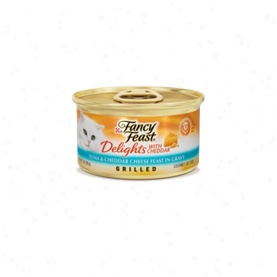 Fancy Feast Delights Tuna And Cheddar Wet Cat Food (3-oz Can, Case Of 24)