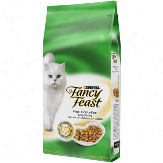 Fancy Feast Dry With Ocean Fish And Salmon Cat Food, 7 Lbs